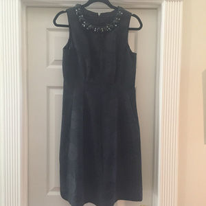 Adrianna Papell Black A-Line Cocktail Dress